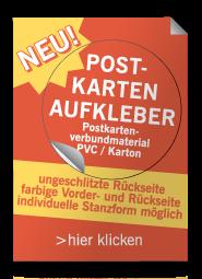 Neu: Aufkleber Postkartenverbundmaterial