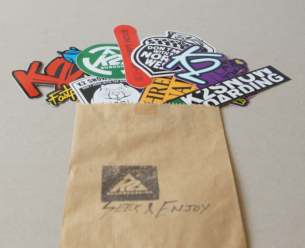 example sticker packing