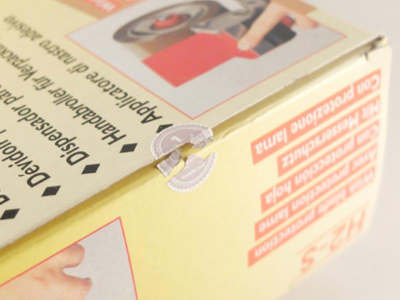 Siegelsticker markieren z.B. geöffnete Verpackungen