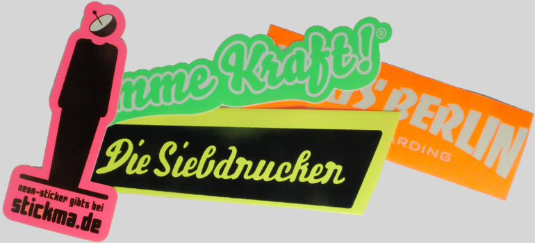 Examples of neon stickers