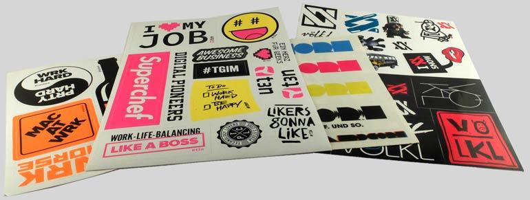 Aufkleber als Stickersheets - angestanzt auf Bogen