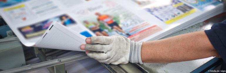 Aufkleber werden im Offsetdruck gefertigt