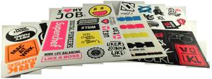 Aufkleber angestanzt auf Bögen (Stickersheets)